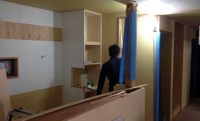 キッチン造作工事