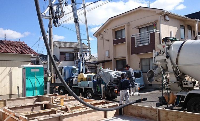 加古川の家Ⅱ基礎工事打設