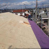 加古川の家Ⅱ屋根防水シート