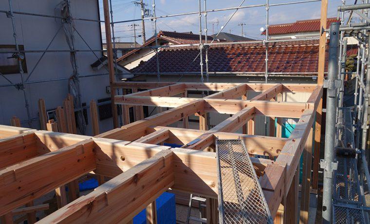 加古川の家Ⅱ建て方初日