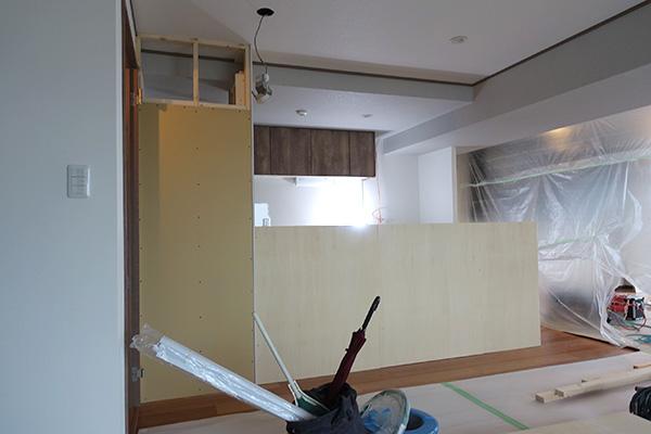 キッチン収納工事2-2