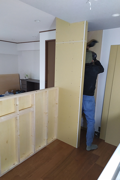キッチン収納工事2-3