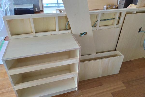 キッチン収納工事3-1